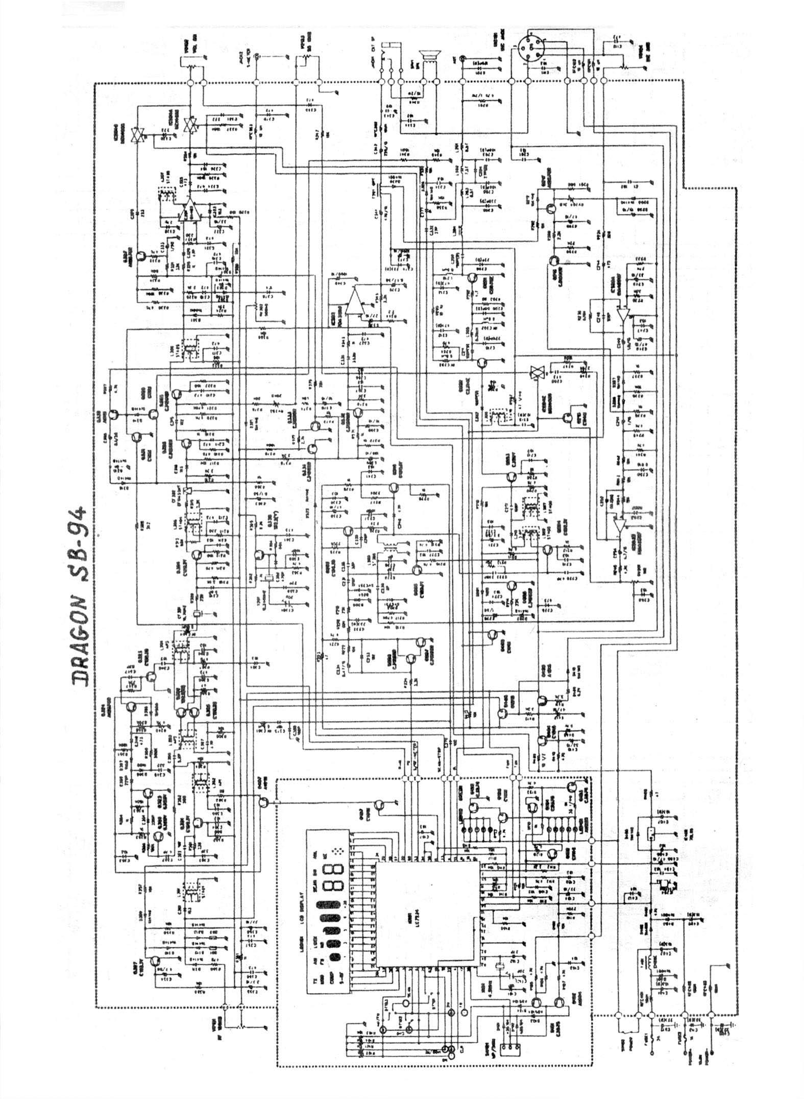 statii radio dragon cb-94 - schema electronica